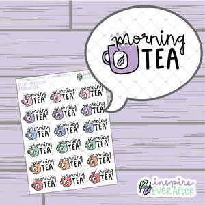 Morning Tea ~ Hand Drawn Beverage Doodle ~ Petite Collection ~ Planner Stickers