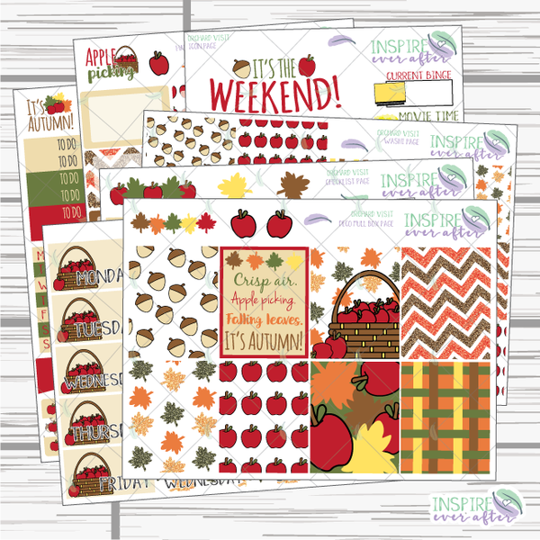 Orchard Visit Weekly Kit ~ Planner Stickers