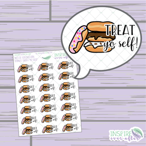 Treat Yo Self: Donut Edition ~ Hand Drawn Food ~ Petite Collection ~ Planner Stickers