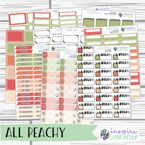 All Peachy ~ Seasonal, Fruity Functional Collection ~ Planner Stickers