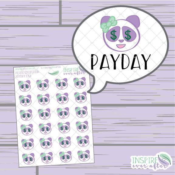 Lila the Panda Emotion Faces ~ Hand Drawn Character Petite Collection ~ Planner Stickers
