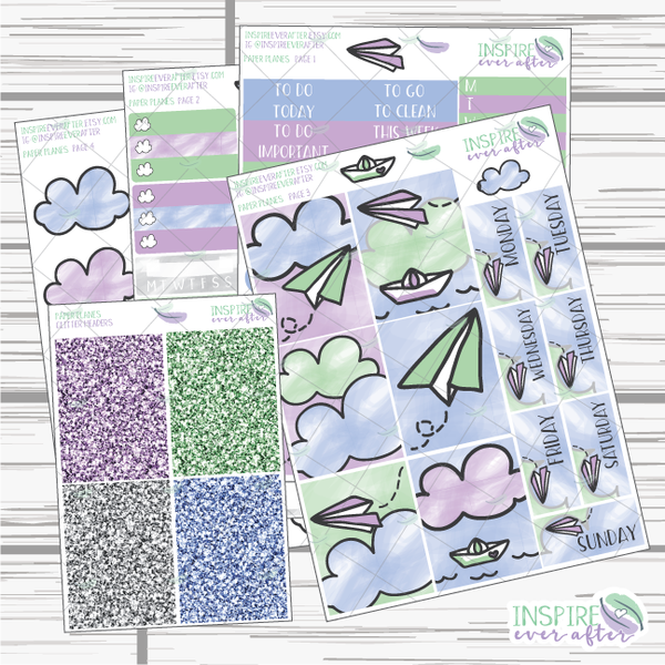 Paper Planes Hand Drawn Slim Weekly Kit ~ Planner Stickers