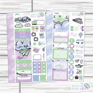 Paper Planes Hand Drawn Personal Size Weekly Kit ~ Planner Stickers