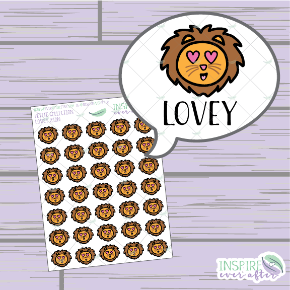 Zion the Lion Emotion Faces ~ You Choose Your Face ~ Hand Drawn Petite Collection ~ Planner Stickers