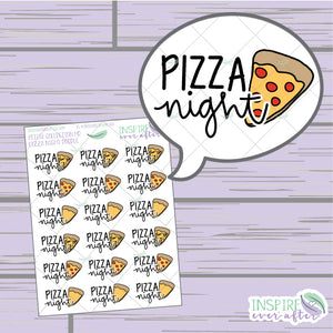 Pizza Night Doodles ~ Hand Drawn Food Icon ~ Petite Collection ~ Planner Stickers