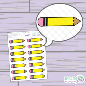 Pencils ~ School/ Work Icons ~ Petite Collection ~ Planner Stickers