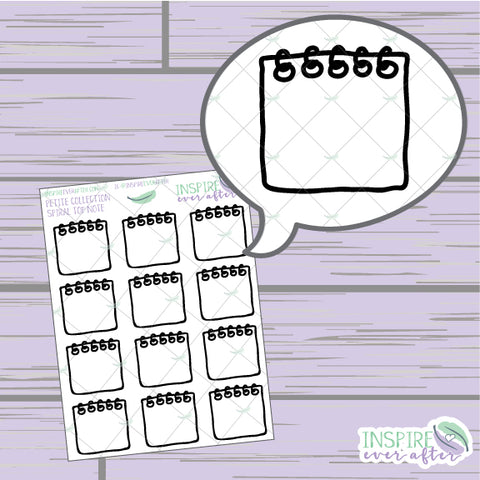 Spiral Top Notebook Doodle ~ Hand Drawn Petite Collection ~ Planner Stickers