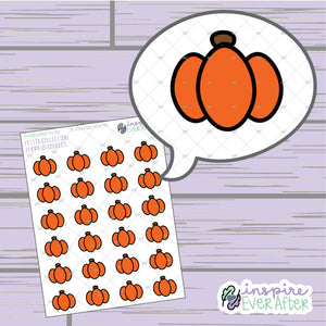 Pumpkins ~ Hand Drawn Seasonal Fall Doodle ~ Petite Collection ~ Planner Stickers