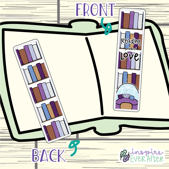 Reading is Love Bookmark ~ Hand Drawn Reading Inspired Bookmarks ~ Planner & Book Accessories