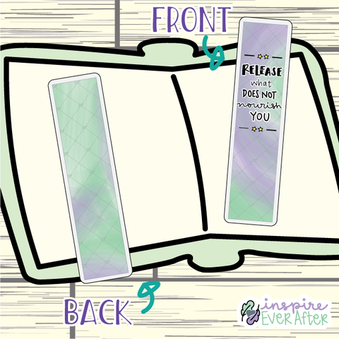 Release What Does Not Nourish You Bookmark ~ Hand Drawn Positive Affirmation Inspired Bookmarks ~ Planner & Book Accessories