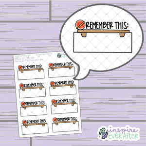 Magical Remember This Shelf Box ~ Hand Drawn Magical Reminders ~ Functional Petite Collection ~ Planner Stickers