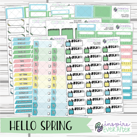 Hello Spring ~ Seasonal Functional Collection ~ Planner Stickers