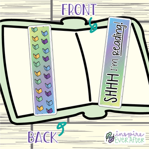 SHHH I'm Reading Bookmark ~ Hand Drawn Sassy Quote Inspired Bookmarks ~ Planner & Book Accessories