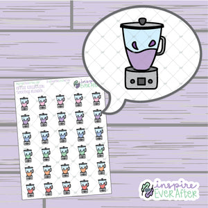 Smoothie Blenders ~ Hand Drawn Beverage Doodle ~ Petite Collection ~ Planner Stickers