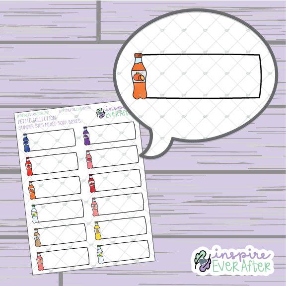 Summer Sips Soda Boxes ~ Choose Your Soda! ~ Hand Drawn Beverage ~ Petite Collection ~ Planner Stickers