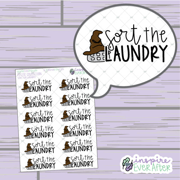 Magical Sort the Laundry ~ Hand Drawn Magical Chores ~ Petite Collection ~ Planner Stickers