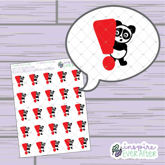 Stevie Exclamation Point Reminder ~ Hand Drawn Important Reminder Character ~ Petite Collection ~ Planner Stickers
