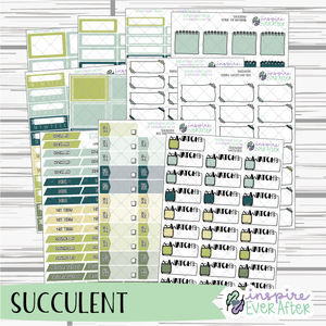 Succulent ~ Seasonal, Cactus/Floral Functional Collection ~ Planner Stickers