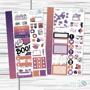 The Boo Crew Hand Drawn Personal Size Weekly Kit ~ Planner Stickers