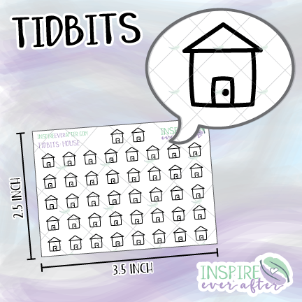 House Icons ~ Hand Drawn Tidbits ~ Planner Stickers