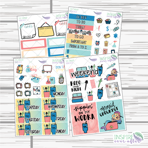 TPC Squad Mini Weekly Kit ~ Hand Drawn Planner Stickers