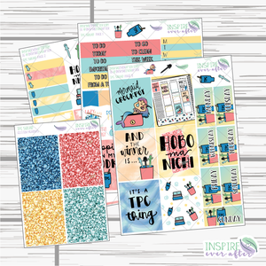 TPC Squad Hand Drawn Slim Weekly Kit ~ Planner Stickers