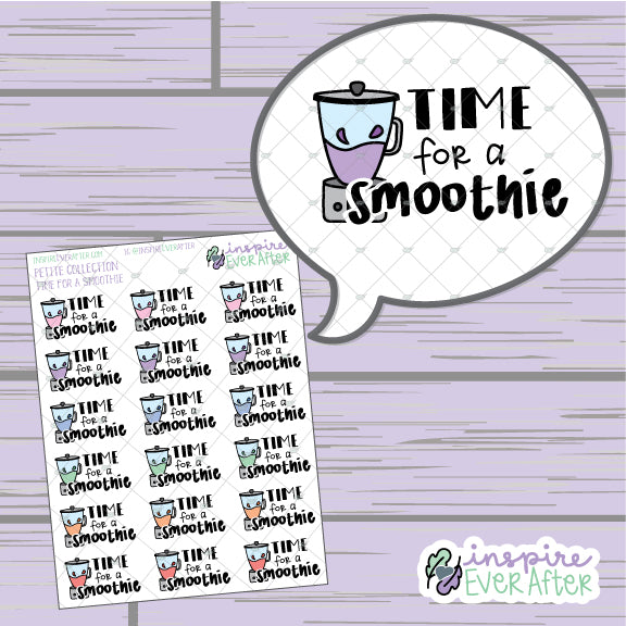 Time For A Smoothie ~ Hand Drawn Beverage Doodle ~ Petite Collection ~ Planner Stickers