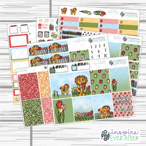 Tulip Fields Weekly Kit ~ Hand Drawn Spring Time Floral Stickers ~ Planner Stickers