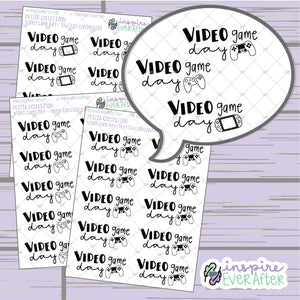 Video Game Day Doodle ~ Choose Your Console! ~ Hand Drawn Games ~ Petite Collection ~ Planner Stickers