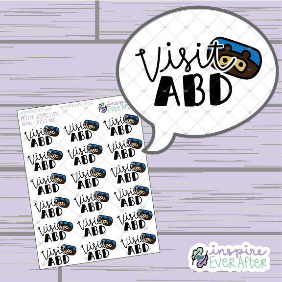 Crossin' Animals: Visit ABD ~ Hand Drawn Video Game Icons ~ Petite Collection ~ Planner Stickers