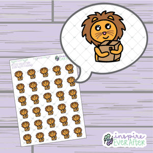 Zion with Package ~ Hand Drawn Character Doodle ~ Petite Collection ~ Planner Stickers