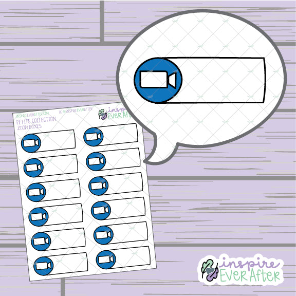 Video Call Box ~ Hand Drawn Video Meeting Icon ~ Petite Collection ~ Planner Stickers