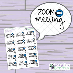 Video Call Meeting Script ~ Hand Drawn Video Meeting Icon ~ Petite Collection ~ Planner Stickers