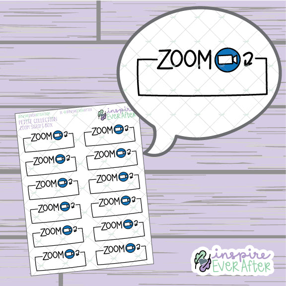 Video Call Script Meeting Box ~ Hand Drawn Video Meeting Icon ~ Petite Collection ~ Planner Stickers