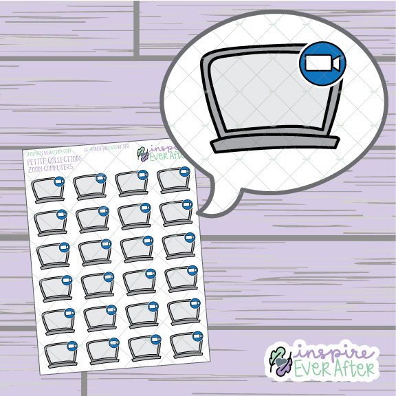 Video Call Computer ~ Hand Drawn Video Meeting Icon ~ Petite Collection ~ Planner Stickers