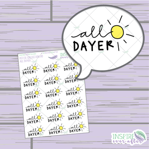 All Dayer ~ Hand Drawn Petite Collection ~ Planner Stickers