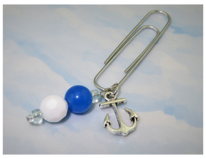 Anchors Away (Nautical) Dangle Clip ~ Inspireology Charms ~ Handmade Planner Accessories