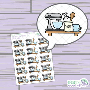 Baking Shelf ~ Hand Drawn Foodie Icons ~ Petite Collection ~ Planner Stickers