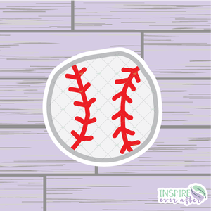 Baseball Die Cut ~ Hand Drawn Planner Accessories