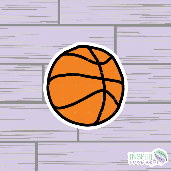 Basketball Die Cut ~ Hand Drawn Planner Accessories