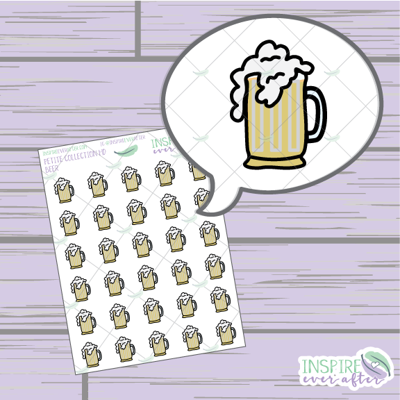 Beer Icon ~ Hand Drawn Petite Collection ~ Planner Stickers