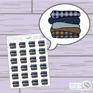 Magical Blue House Blanket Stack ~ Hand Drawn Petite Collection ~ Planner Stickers