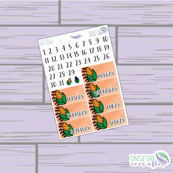 Blessings Date Covers ~ Hand Drawn Planner Stickers