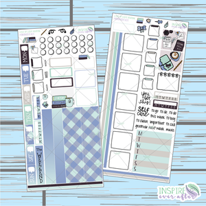 A Bit of Light Reading Hobonichi Weekly Kit ~ Hand Drawn Planner Stickers