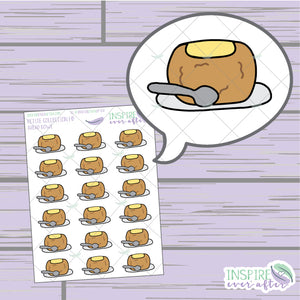 Bread Bowl ~ Hand Drawn Food Icons ~ Petite Collection ~ Planner Stickers