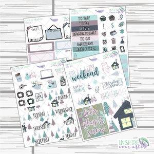 Cabin In The Woods Mini Weekly Kit ~ Planner Stickers