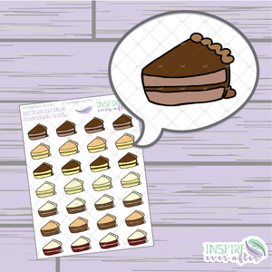 Assorted Cake Slices ~ Hand Drawn Food ~ Petite Collection ~ Planner Stickers