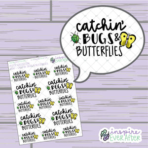 Crossin' Animals: Catchin' Bugs & Butterflies ~ Hand Drawn Video Game Icons ~ Petite Collection ~ Planner Stickers