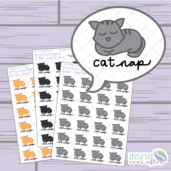 Cat Nap ~ Choose Your Cat ~ Hand Drawn Petite Collection ~ Planner Stickers