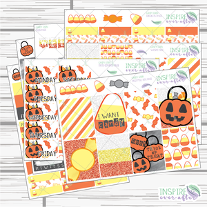 Candy Corn Weekly Kit ~ Planner Stickers